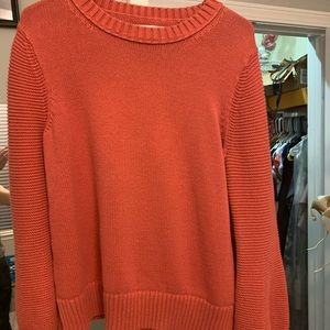 Loft knitted crew sweater (salmon/orange color)